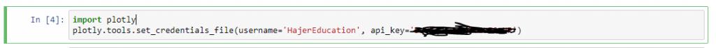 python plotly tutorial : Plotly API KEY