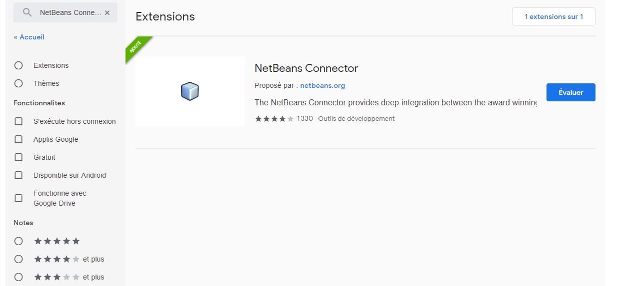 Netbeans Connector Google Chrome