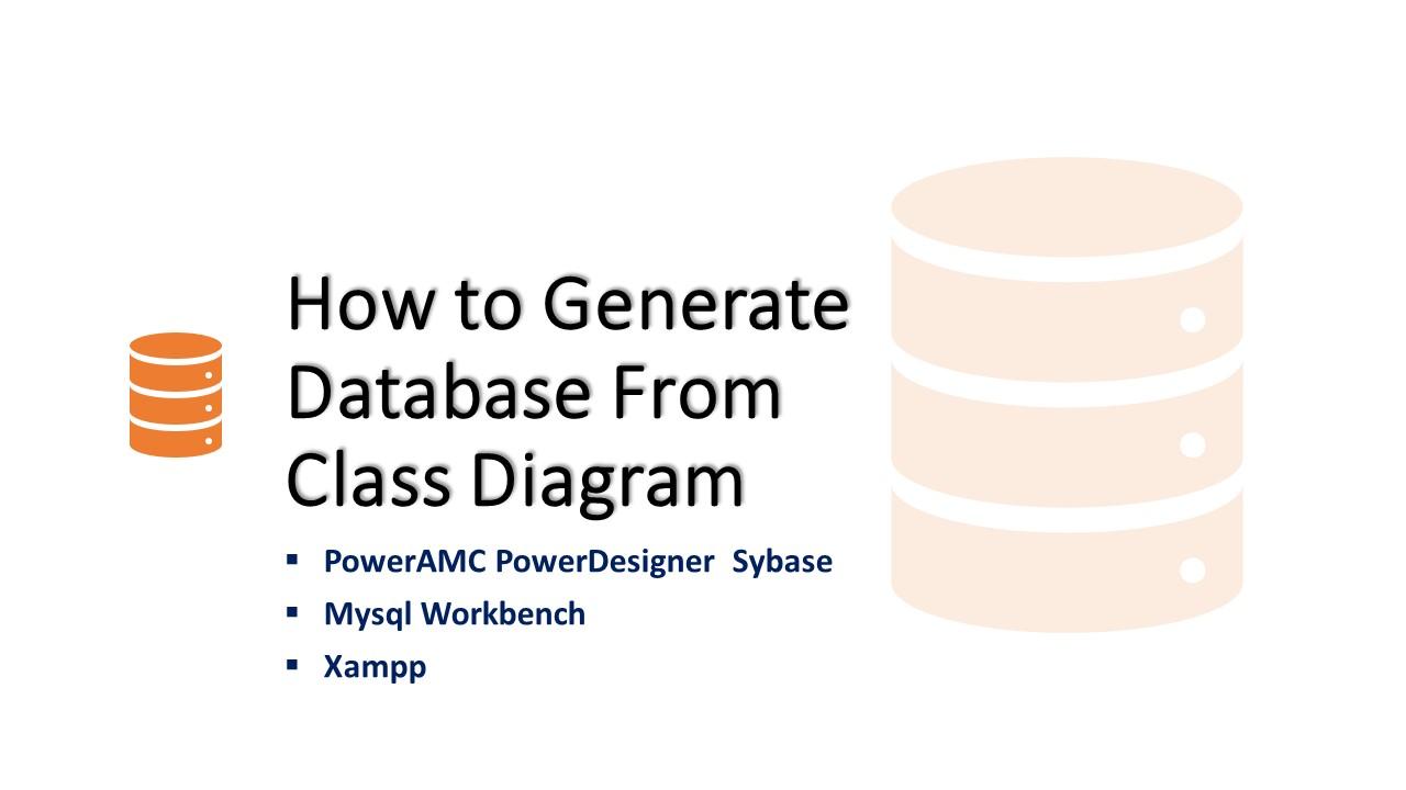 database class diagram powerdesigner