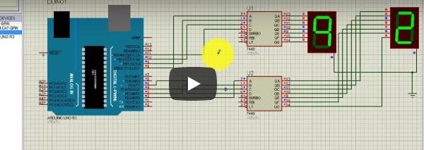 compteur afficheur 7 segments arduino