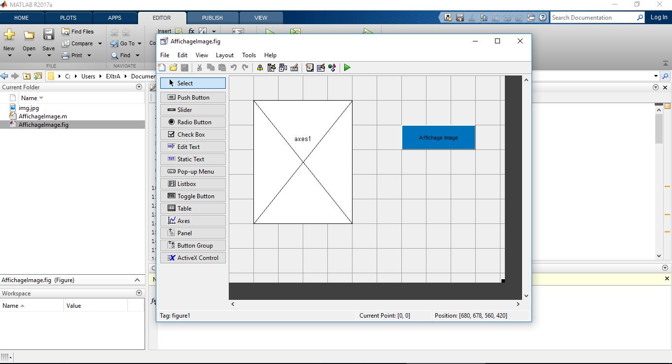 Matlab : Open in Guide