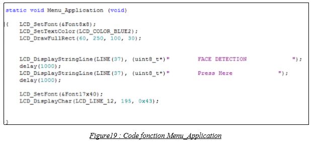 Code fonction Menu_Application