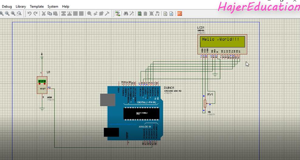 lcd 16x2 arduino proteus