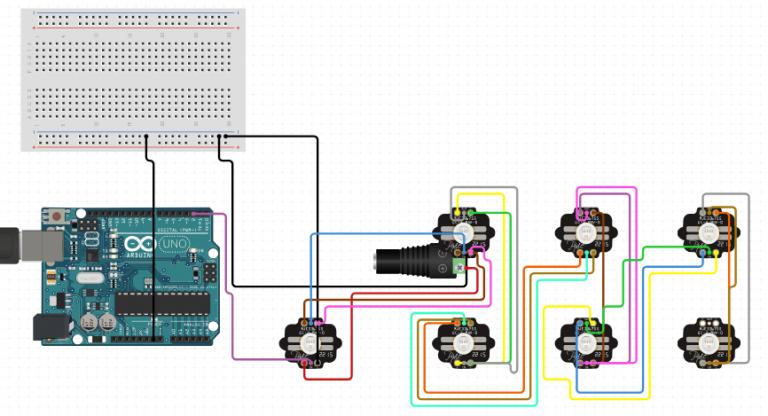 ARDUINO RGB LED : Arduino UNO PIXIE CHAIN