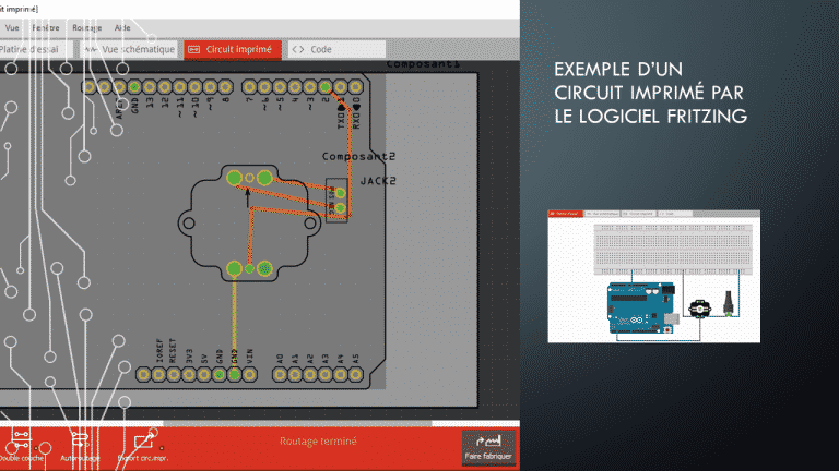 exemple d'un Circuit Imprimé par le logiciel FRITZING