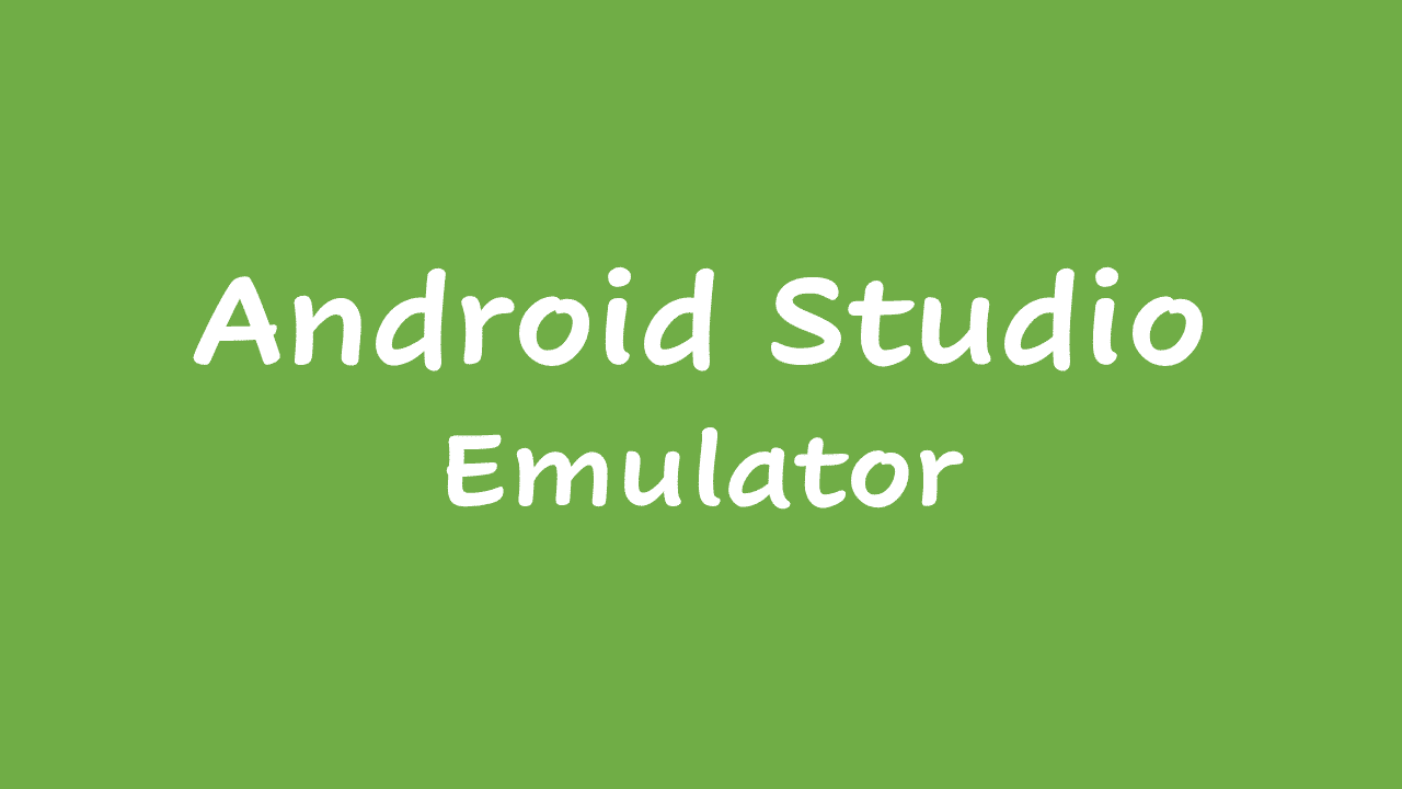 Android Studio Emulator Not Working