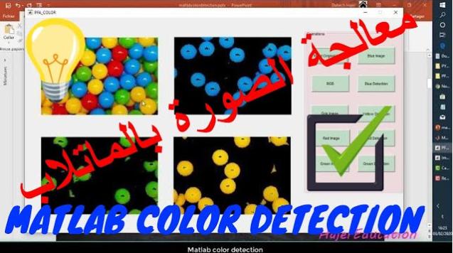matlab color detection معالجة الصورة بالماتلاب شرح بالعبي