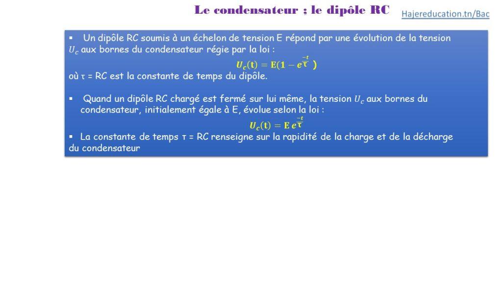 résumé cours dipole rc hajereducation