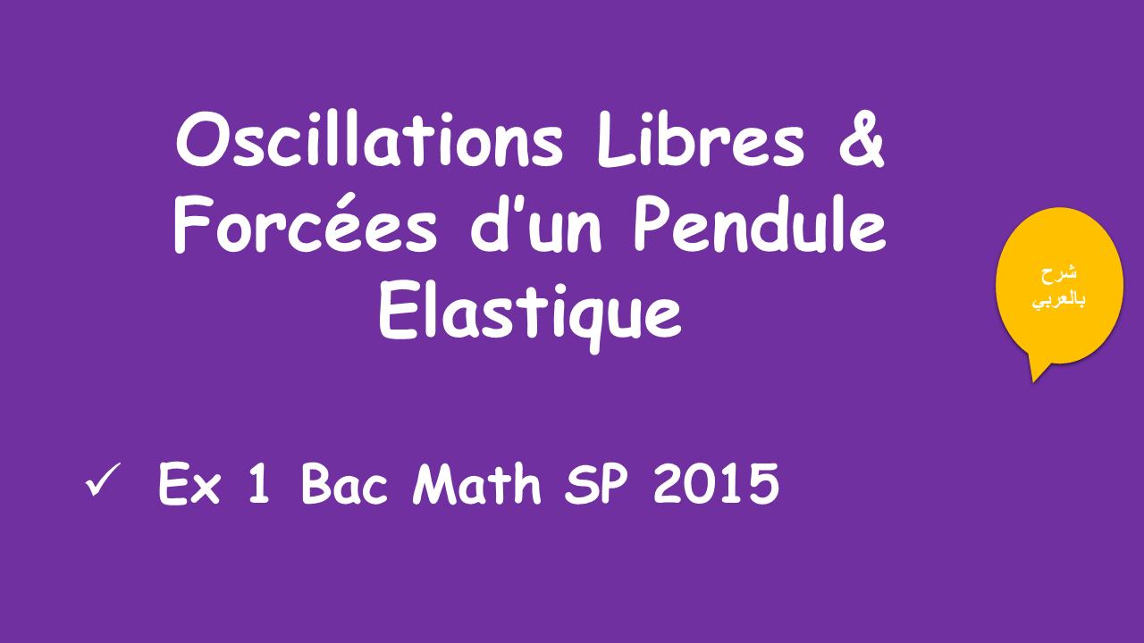 Oscillations Libres & Forcées  d'un pendule élastique : cours + ex