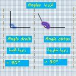 Angles أولى ثانوي chapitre 1 Géométrie