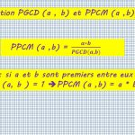 Relation PGCD PPCM