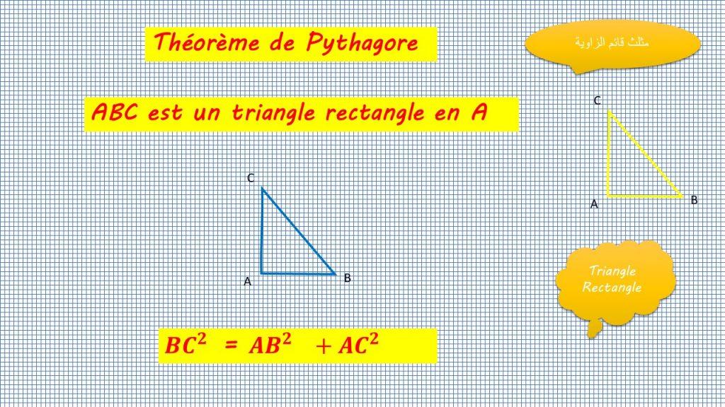 THEOREME PYTHAGORE